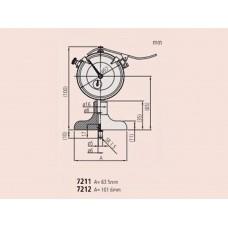 Глубиномер индикат. ГИ-200 0,01 (основание  63,5мм) (измер. головка 2902 SB) 7211 Mitutoyo